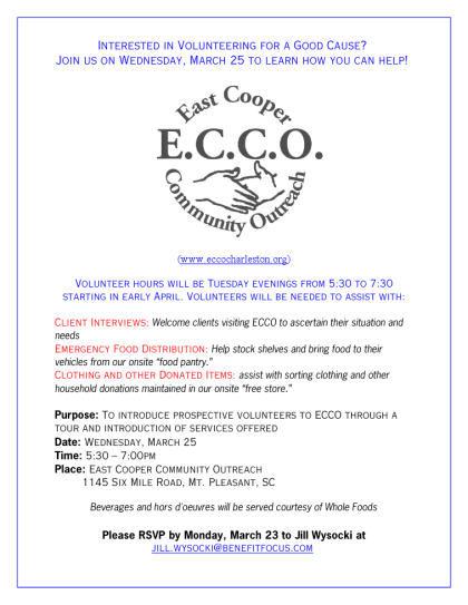 East Cooper Community Outreach